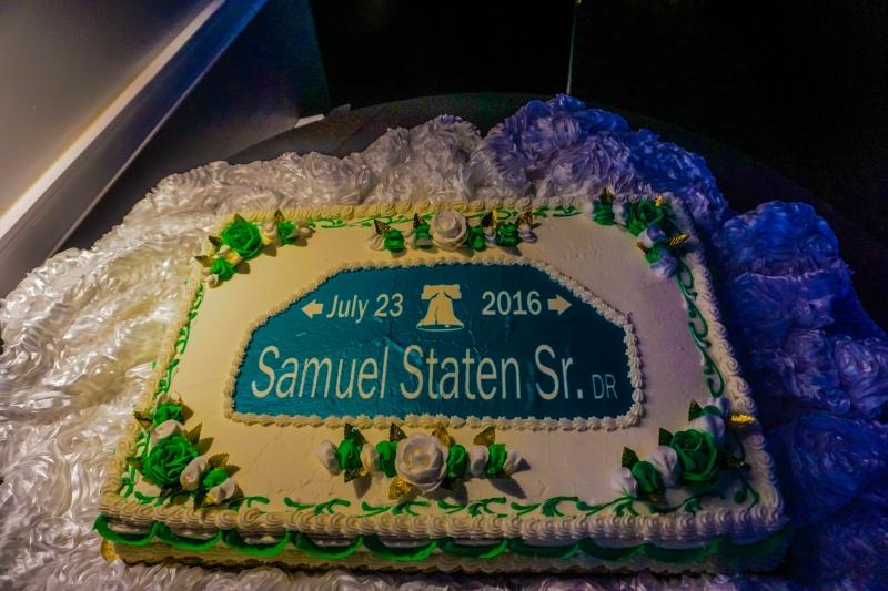 Cake for Sam Staten Sr Drive