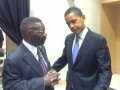 SamStaten Sr with President Barack Obama