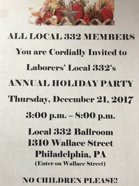 Annual Holiday Party @  Local 332 Ballroom | Erie | Pennsylvania | United States