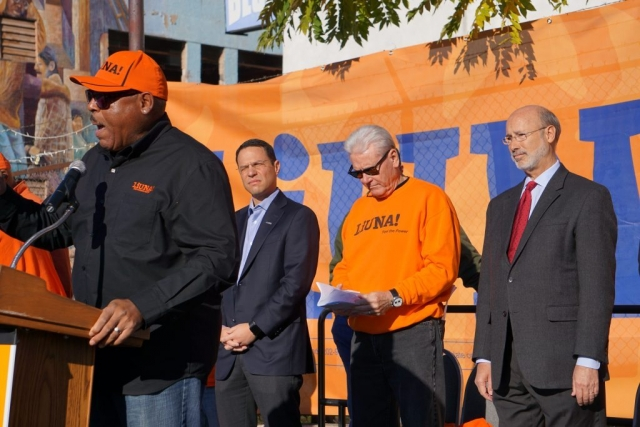 Governor Tom Wolf at Laborers' DAy Rally