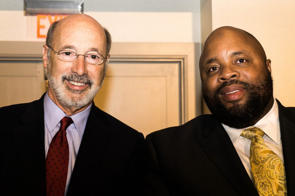 Governor Tom Wolf with Ryan Boyer LIUNA Bus. Manager of Phila. and Vicinity